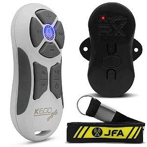 Controle Longa Distancia JFA K600 Branco com Cinza 600 Metros