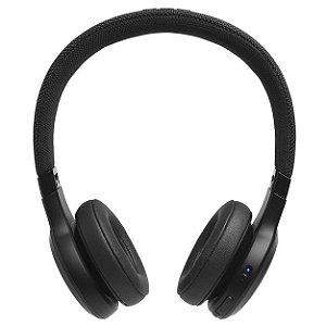 Fone De Ouvido Jbl Live 400bt Bluetooth Preto Com Cabo Auxiliar P2