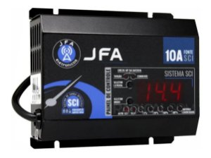Fonte Carregador JFA 10A Bivolt SCI Até 500W RMS Com Display