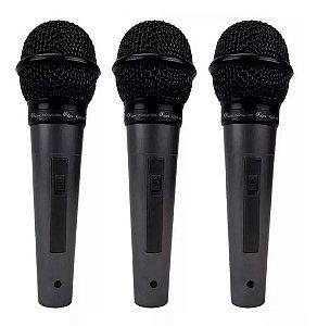 Kit 3 Microfones Kadosh Kds300 Unidirecionais Kds-300