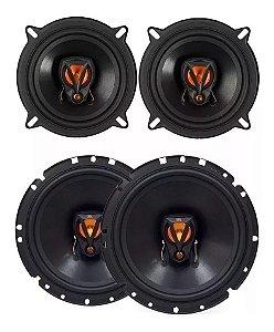 Kit 4 Alto falantes 5 E 6 Pol Triaxial 200w Rms Gm Cobalt Jbl