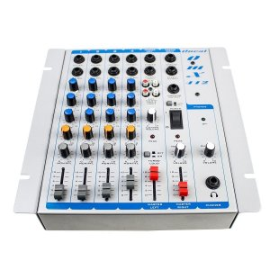 Mesa De Som Mixer Oneal Omx 412 Com 4 Canais Bivolt P10 Balanceada
