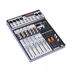 Mesa de Som Soundcraft SX802FX USB - 8 Canais