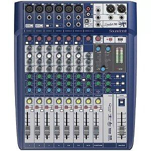 Mesa Som 10 Canais Soundcraft Signature 10 Mixer Usb
