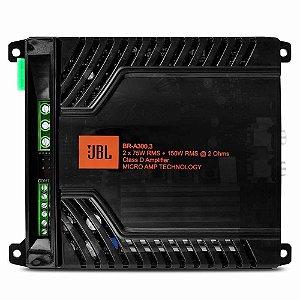 Módulo Amplificador Digital JBL Br-a 300.3 3 canais 300W Rms 2 Ohms