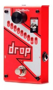 Pedal Digitech The Drop Polifônico P/ Guitarra C/ Fonte Pedaleira