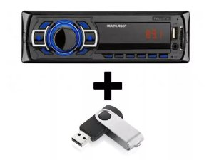 Som Automotivo Mp3 Multilaser New One Usb Sd Aux + Pen Drive p3318p