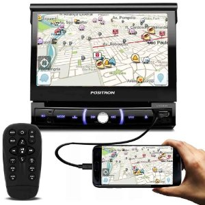 DVD Player Positron SP6330BT Bluetooth SD/USB Tela de 7 Pol