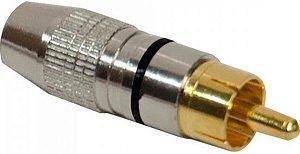 Plug RCA Profissional  Preto STORM