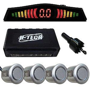 Sensor de Estacionamento H-Tech com 4 Sensores Prata SE100S