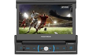 "Central Multimídia Positron SP6720 com Tela Retrátil Touch Screen de 7"" com bluetooth"