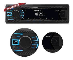 Som Automotivo Pósitron Mp3 Player Sp2230 Com Bluetooth