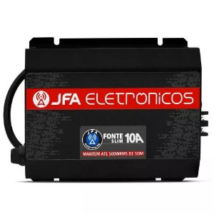 Fonte Carregador JFA 10A Bivolt SCI Até 500W RMS Sem Display