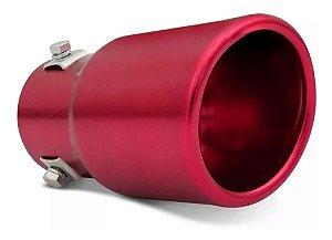 Ponteira de Escapamento Universal Cinoy Vermelha PO1V