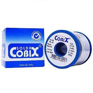 Solda Estanho Cobix Azul 1,0 mm 500 gramas Unidade