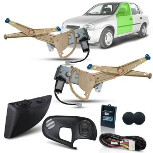 Kit Vidro Eletrico Corsa Classic 4P Diant (96/16) Inteligente