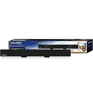 ANTENA AQUARIO INTERNA DIGITAL AMPLIF. SLIM VHF/UHF/HDTV/FM DTV 2600