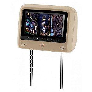 Encosto De Cabeça KX3 Bege Tela LCD Tipo Escravo Com Controle