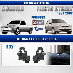 Kit Trava Elétrica Ford Fiesta Street 1997-2002 2 Portas Tragial