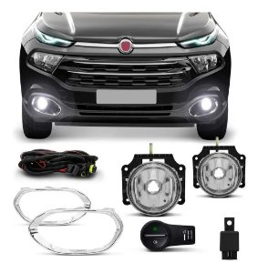 KIT FAROL DE MILHA SUITS FIAT TORO 2016-2019 FT019