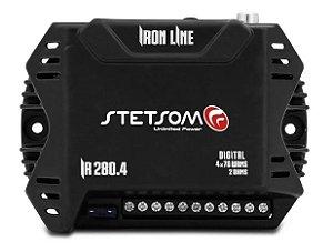 Modulo Stetsom Iron Line Ir280.4 280w Rms 4 Canais 2 Ohms