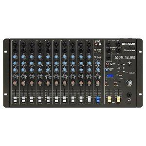 Misturador Mesa de som Analógica MXS 12 SD 12 Canais - Ciclotron