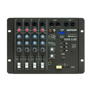 Mesa de som Analógica MXM 4 SD 4 canais Mono USB - Ciclotron