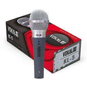 Microfone Com Fio Vokal Kl-5 Dinâmico - Acompanha Cabo