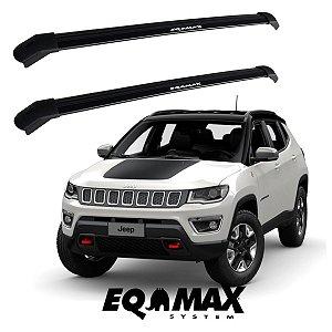 Rack Delta Teto Jeep Compass Ate 2021 Preto - Eqmax