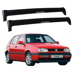 Rack Teto Travessas Vw Golf 94 95 96 97 98 Eqmax Wave Preto