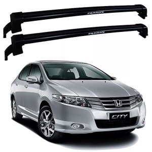 Rack De Teto Honda City 2010 Até 2014 - Eqmax New Wave Preto