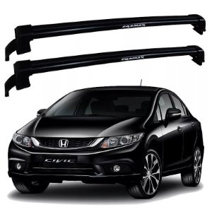 Rack de Teto Honda Civic 2012 até 2016 - Eqmax New Wave Preto