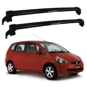 Rack De Teto Honda Fit 2004 Até 2008 - Eqmax New Wave Preto
