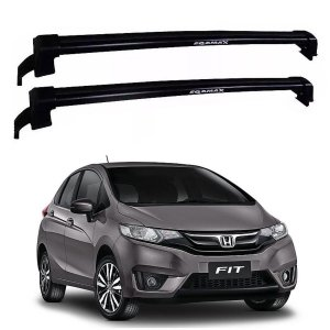 Rack De Teto Honda Fit 2015 até 2019 - Eqmax New Wave Preto