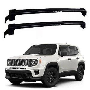 Rack de Teto Jeep Renegade 2015 Até 2020 - Eqmax New Wave Preto