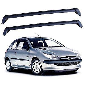 Rack De Teto Peugeot 206 / 207 2 Portas - Eqmax New Wave Preto