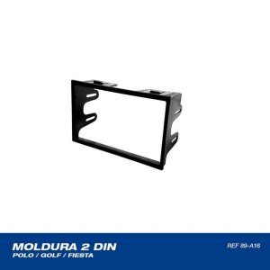 Moldura Painel 2din Preta Polo, Golf, Fox, Fiesta, Ecosport