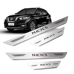 Soleira De Porta Em Aço Inox Escovado Nissan Kicks - Mult