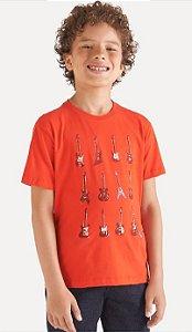 Camiseta reserva mini  SILK GUITARRAS - VERMELHA