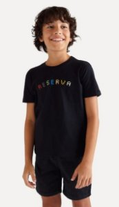 Camiseta reserva mini SILK RESERVA COLOR - PRETO