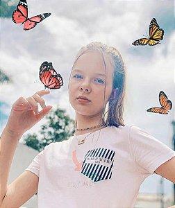 Blusa Malha com Aplique - Teen