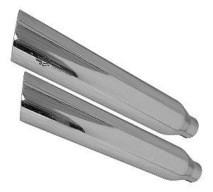 "Ponteira sportster iron 2"" 1/4 cromada corte baixo customer"