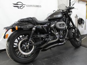 "Escapamento sportster forty eight 2014 K10 2"" 1/2 preto"