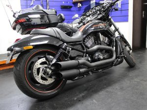 Escapamento v-rod streetrod 2012 2x1 cônico t-black customer