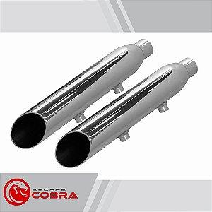 Ponteira sportster 883R 2006 a 2013 chanfrada cromado cobra