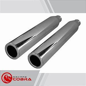 Ponteira sportster iron 2006 até 2013 slashcut cromado cobra