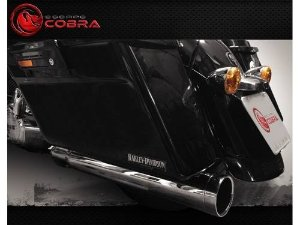 Ponteira touring road glide ultra 17/20 slashcut croma cobra