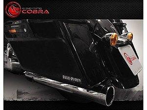 Ponteira touring street glide 2017/2020 slashcut croma cobra