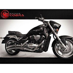 Escapamento boulevard M1500 JJ classic 10/14 cromado cobra