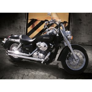 Escapamento custom shadow 750 reto 2006 a 2007 cromado cobra